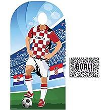 BundleZ-4-FanZ by Starstills Fan Pack - World Cup Football 2018 Croatia Stand-In Lifesize Adult Cardboard Cutout with 20cm x 25cm Star Photo