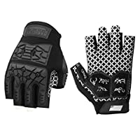 ‏‪Seibertron Lineman 2.0 Padded Palm Football Receiver Gloves, Flexible TPR Impact Protection Back of Hand Glove Adult and Youth Sizes Adult L‬‏