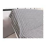 Soleil d'ocre Jeté de canapé 170x250 cm COTONADE Gris Anthracite, Polyester Coton,...
