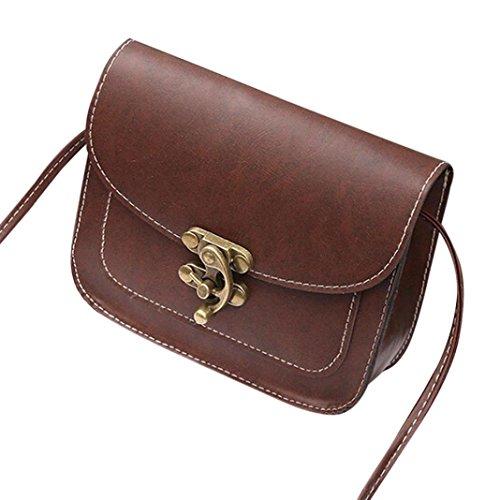 JIANGFU Retro lock die Schulter Messenger Bag,Art- und Weisefrauen-Lederhandtasche Crossbody Schulter-Kurier-Verschluss-Telefon-Münzen-Beutel (CO) (Handtasche Drawstring Troddel)