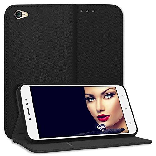 mtb more energy® Schutz-Tasche Bookstyle für Xiaomi Redmi Note 5A (5.5'') | schwarz | Kunstleder | Klapp-Cover Hülle Case