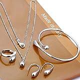 Ensemble bijoux pour femmes Ensemble pendentif en argent