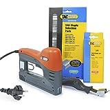 Tacwise 140EL Agrafeuse/ Cloueuse électrique DIY + agrafes 91 + Pointes 18G + dégrafeur PRO