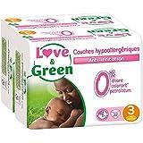 Couches Bébé Hypoallergéniques 0% - Taille 3 - Lot de 2 x 32 couches (64 couches)