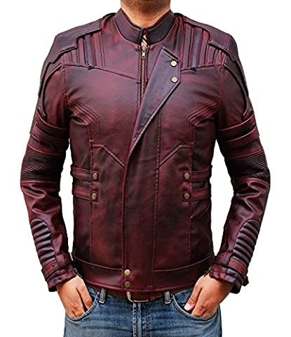 Chris Pratt Star Lord Jacket - Guardians of the Galaxy 2 Red Jacket (XXL, Red)