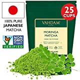 VAHDAM, Moringa Matcha Grüner Tee | 100% REINER japanischer Herkunft Matcha-Teepulver | 137x ANTI-OXIDANTEN | Grüner Tee für Gewichtsabnahme & Detox für den Alltag | Japans SUPER FOOD