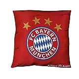 FC Bayern München Kuschelkissen / Kissen Allianz Arena FCB plus gratis Aufkleber forever München