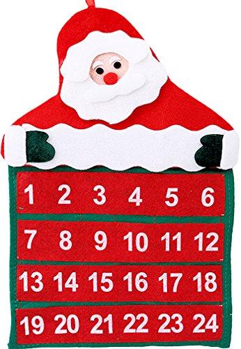 Calendario Dellavvento In Feltro.Calendario Dell Avvento Babbo Natale In Feltro Dimensioni