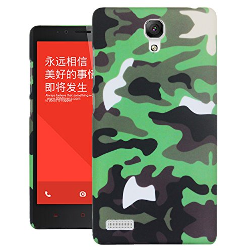 Heartly Army Style Armor Hard Printed Bumper Back Case Cover For Xiaomi Mi Redmi Note 4G - Army Green