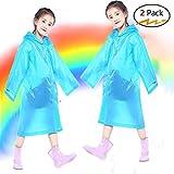 boonor pioggia Poncho per bambini 2PCS bambini pioggia Cape antipioggia giacca per bambini pioggia cappotto Giunto Bar con cappuccio e maniche