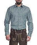 Tracht & Pracht - Herren Trachtenhemd Hemd Karo Grün - XXL