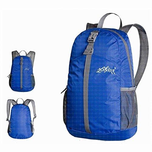 MCTECH 20L Zaino Trekking Usa come borsa da viaggio per Sportivo Outdoor per campeggio alpinismo arrampicata Viaggio Bicicletta (Viola) Blau (Blue)