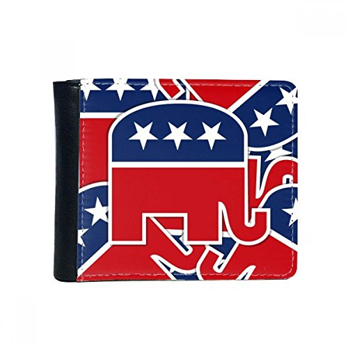 DIYthinker El tirón de América Estados Unidos Emblema Elefante Republicano Plegable de imitación de la Carpeta de Cuero de múltiples Funciones de la Tarjeta de Regalo Monedero