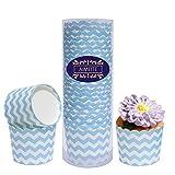 AIMEITE 24er Cupcake Förmchen Papier Backform Muffin Förmchen Papier Liner Cupcake Wrappers Backförmchen Cupcake Papier Muffinförmchen (Blau)