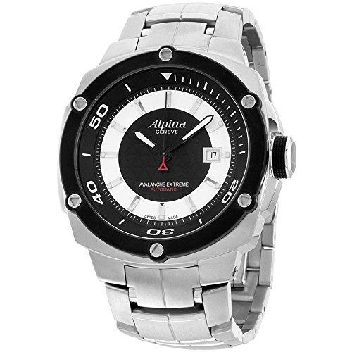 Alpina Men's Avalance Extreme Steel Bracelet Automatic Watch AL-525LBS5AE6B