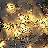 LY-JFSZ Lichterketten,Diamant Form Hochzeit Schlafzimmer Party Hause Beleuchtung Weihnachten Garten Terrasse Außerhalb Dekoration 1,5 Mt 10LED Batteriebetrieben