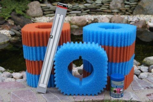 Wartungspaket für Teichfilter: Oase Filtoclear 30000 inkl. Schwammset, Lampe und Filterstarter (Lampen Gebrauchte)