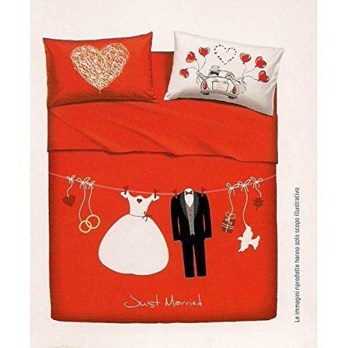 BASSETTI SET LENZUOLA MATRIMONIALI LOVE IS A COUPLE