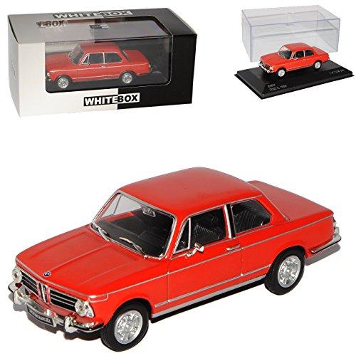 Unbekannt B-M-W 2002 ti Rot 1966-1977 1/43 Whitebox Modell Auto mit individiuellem Wunschkennzeichen (Bmw Modellauto 2002)