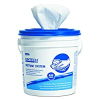 Kimberly-Clark Kimtech Prep 06411 Roll Disposable Wiper for Bleach, Disinfectants and Sanitizers, 12-1/2