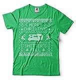 Silk Road Tees Männer Weihnachten T-Shirt Lustige Popular Culture Hemd Shitter ist voll Lustige Popular Culture Rv-T-Shirt Frohe Weihnachten lustige T-Shirt 3X-Large Grün