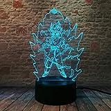 Led Veilleuse, Bébé Sommeil Enfants Cadeau 3D Illusion Rbg Comics Kit Lampe De Table Éclairage Intérieur, Lampe De Chevet Meilleurs Cadeaux Jouets