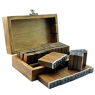 ucec 70Stück Alphabet Briefmarken Vintage Holz Gummi Stempel Buchstaben Zahlen und Zeichen Set für DIY Craft Karte machen Happy Planer Scrapbooking Supplies