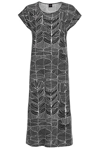 Nanso Saniainen Langes Nachtkleid, Länge 130cm Damen Black
