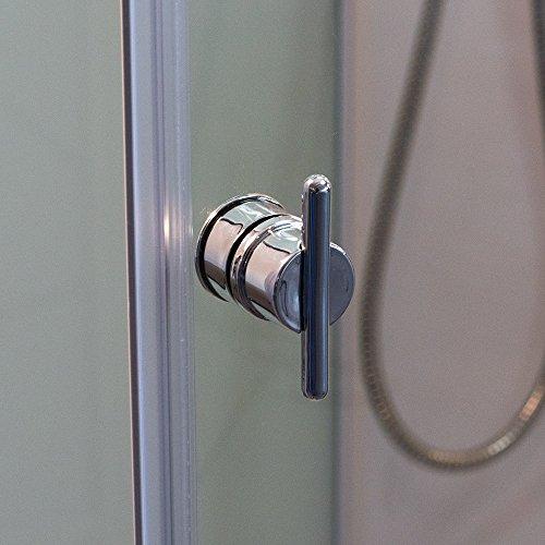 DUSAR Komplettdusche Fertigdusche Astoria 80 cm, 195 cm hoch Duschkabine Eckdusche Eckeinstieg mit vier Wänden rundum geschlossen komplett Dusche - 5