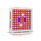 Mountxin 300W Full Spectrum Grow Light Switch LED Plant Growth Light for Plant Flower - White(EU)