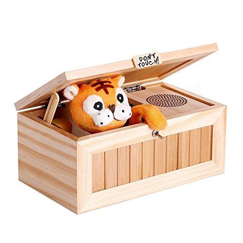 TOOGOO Nuevo Caja electronica inutil con sonido Regalo juguete tigre lindo escritorio de reduccion de estres