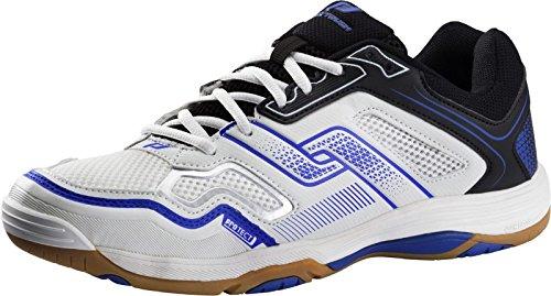 Pro Touch Indoor-Schuh Rebel M, Herren Multisport Indoor Schuhe, Schwarz (Black/White/Blue 000), 41 EU (7.5 UK)