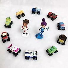 SAMANIS 3-7 CM Blaze And The Monster Machines Toy Car Set-12pcs/set (Multicolor)