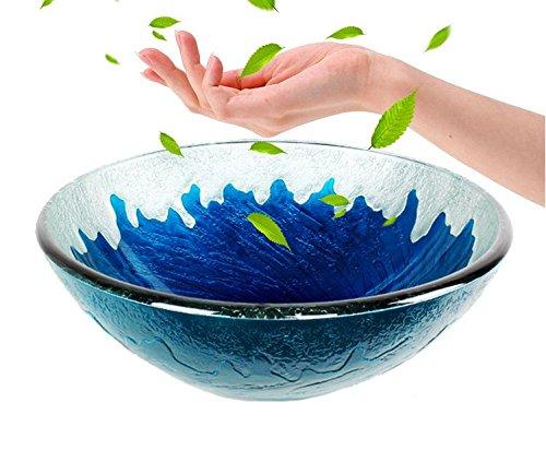FANGYAO Gehärtetes Glas-Becken-Wash Becken/Geschirr set (420 * 145 * 12 mm) , single basin