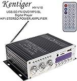 HI-FI - Amplificador de Audio para Coche (Bluetooth, Radio FM, Compatible con Entrada SD/USB/DVD/MP3)
