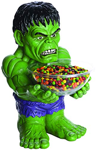 Toybakery – hulk personaggio come candy bowl holder porta caramelle, decorazione, ideale per ogni festa di halloween, colore verde