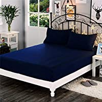 """VAS COLLECTIONS Waterproof 75""""x 72"""" (6.25 x 6) feet Cotton Fitted King Size Mattress Protector Bed Cover with Elastic…"""