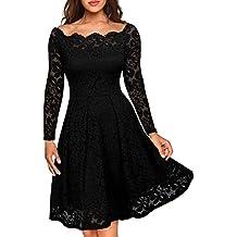 Vestidos de encaje negro para mujer