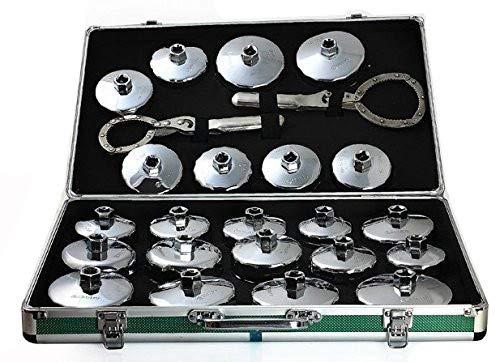 24 pcs Cap type de filtre à huile Clé à douille Outil de démontage kit Outil d'ingénierie mécanique Auto Voiture kit Outil de maintenance de réparation