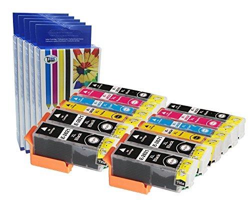 Preisvergleich Produktbild 12 XL Druckerpatronen kompatibel fuer 26XL (T2621 T2631 T2632 T2633 T2634) T2636 Multipack für Epson Expression XP-600 605 610 615 700 710 800 810 mit CHIP
