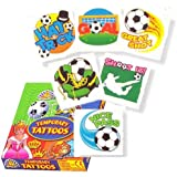 """""""Football Tattoos, pack of 24, assorted"""""""