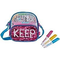 Simba 106374264 - Color Me Mine Swap Pocket Bag Tasche zum Bemalen / Jetzt neu mit trendigen Wendepailletten