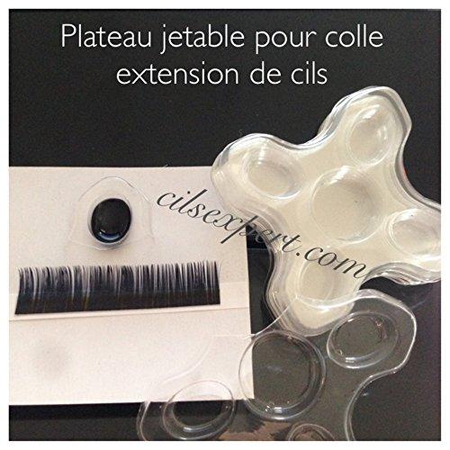 Support plastique jetable pour colle à extension de cils et Mascara Semi permanent et Brow sculpting (60 trous) lot de 12 pcs: 1 trou=1 cliente pour Volume russe