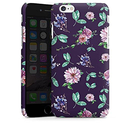 Apple iPhone 8 Silikon Hülle Case Schutzhülle Blumen Muster Herbst Premium Case matt