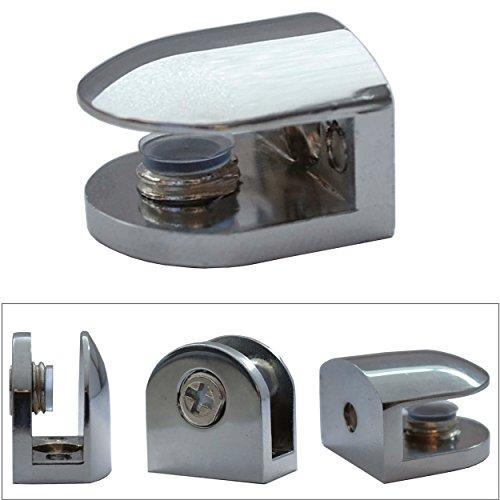 Euro Tische Regal-Halter Glasbodenträger - Stabile Regalträger für Glas- und Holzböden - Verschiedene Varianten (2 Stück) - 2 Regal Glas Regal