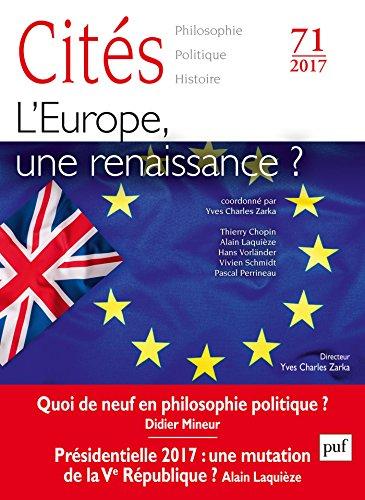 Couverture du livre Cités 2017, n° 71: L'Europe, quel avenir?