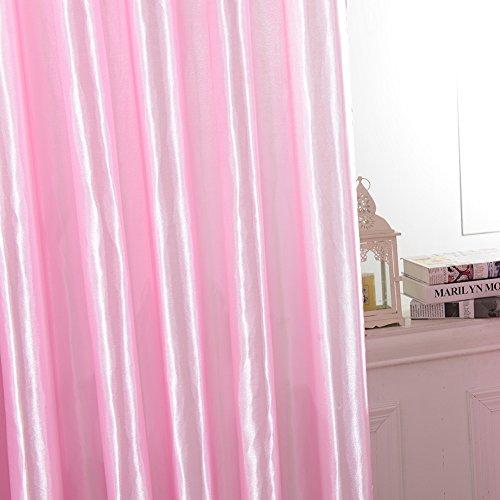 Preisvergleich Produktbild Kasit Gardine Vorhang Blickdicht, Lichtdichtes Vorhänge IVerdunkelungsvorhang Thermovorhang mit Ösen , schwere Ösenschal Verdunkelungsgardine - Pink (rod-pocket blackout)