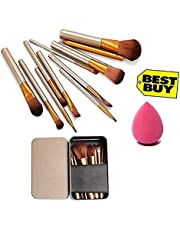 Nakedplus Nylon and Wooden Makeup Brush Set of 12 with Stor
