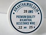 A1 Kanthal Type Resistance Wire - (28AWG) 0.32mm - 25 Metre Spool - 17.97 ohms/m Quality Coil Wire