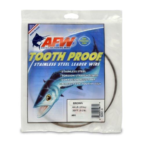 American Fishing Wire Vorfachdraht, zahnsicher, Edelstahl, Camo Brown, 30 Feet, 32 Pound Test